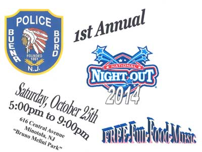 Buena Borogh Police Department National Night Out - October 2014